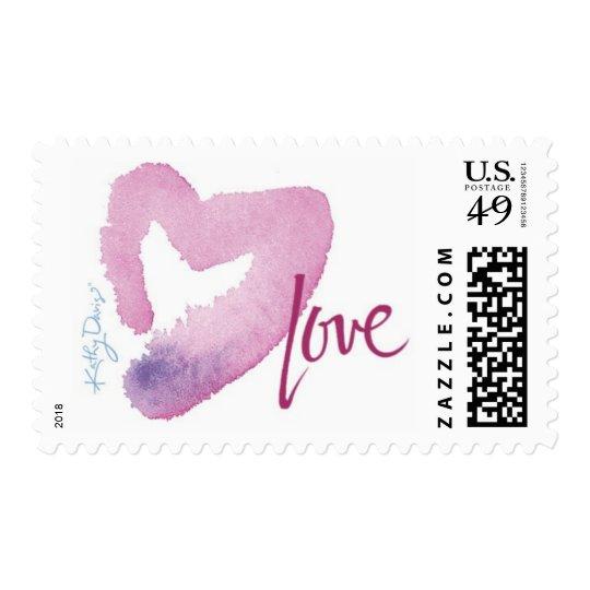 Kathy Davis - Love with Heart Stamp