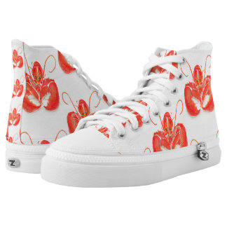 Kathy Faggella Food ACEO Challenge High-Top Sneakers