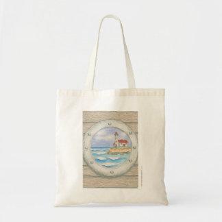 Kathy Faggella Lighthouse Porthole Tote Bag