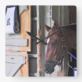 Kathy Ritvo Stables Square Wall Clock