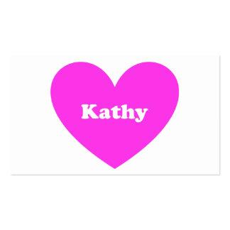 Kathy Plantilla De Tarjeta De Visita