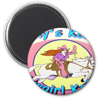 Kathy's Kosmic Kowgirl Kafe Products 2 Inch Round Magnet