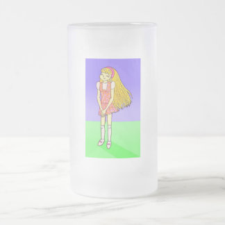 Katie Anime Art Gallery Character Frosted Glass Beer Mug
