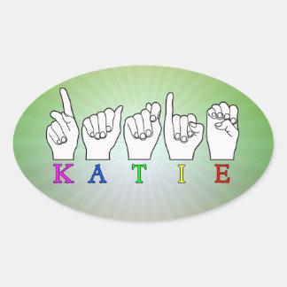 KATIE ASL FINGERSPELLED STICKER