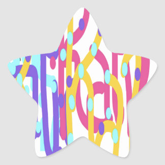 Katie design star sticker