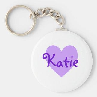 Katie en púrpura llavero redondo tipo pin
