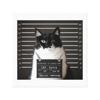 Katie es… fotografía de detenido ACUSADA en lona Impresión De Lienzo