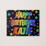 "[ Thumbnail: ""Katie"" First Name, Fun ""Happy Birthday"" Jigsaw Puzzle ]"