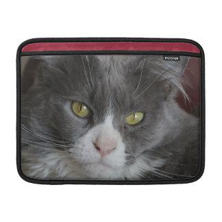 KATIE GRIS Y BLANCO DEL CAT FUNDA  MacBook