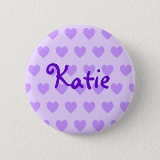 Katie in Purple Pinback Button