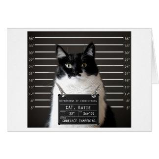 Katie Is...ACCUSED Mug Shot Blank Card