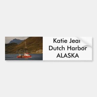 Katie Jean, Longliner in Dutch Harbor, AK Car Bumper Sticker