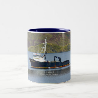 Katie K, Crab Boat in Dutch Harbor, Alaska Two-Tone Coffee Mug