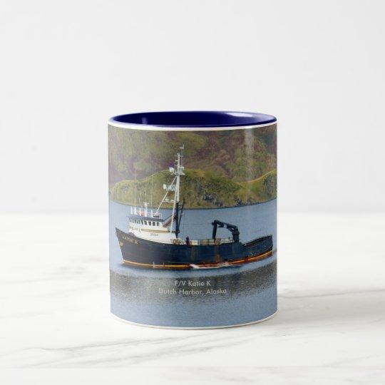 Katie K, Crab Boat in Dutch Harbor, Alaska Two-Tone Coffee Mug