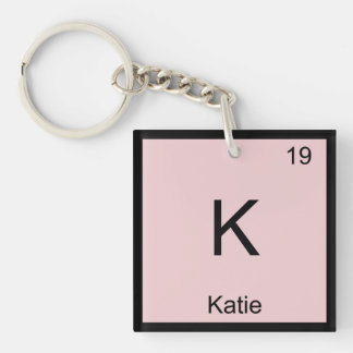 Katie  Name Chemistry Element Periodic Table Single-Sided Square Acrylic Keychain