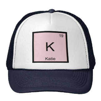 Katie  Name Chemistry Element Periodic Table Trucker Hat