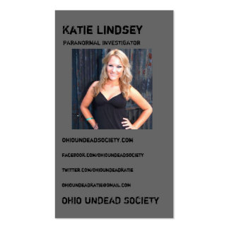 Katie OhioUndead Business Cards