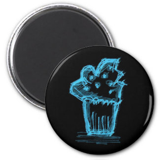Katie-Pop Blue Cupcake Magnet