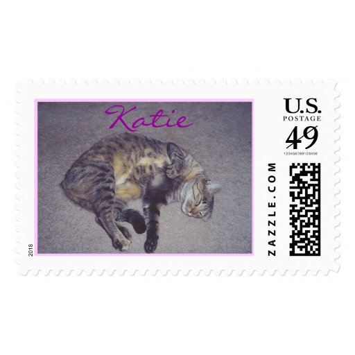 Katie sleeping postage stamps