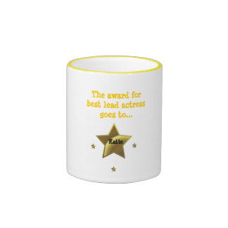 KATIE: The Award For Best Lead Actress Ringer Coffee Mug