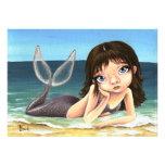 Katie the mermaid custom invitations