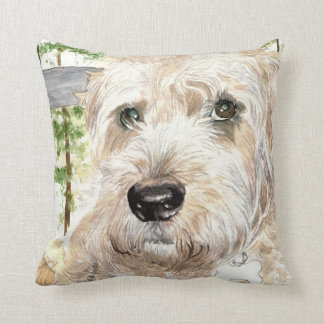 Katie the Soft Coated Irish Terrier Throw Pillow