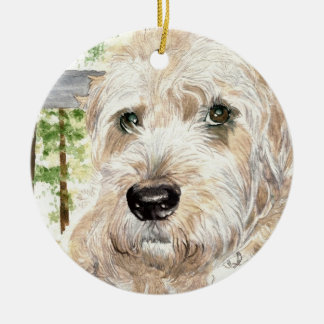 Katie the soft coated Wheaton Terrier Ornament