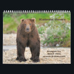 """Katmai Bears Calendar<br><div class=""""desc"""">The beautiful Katmai National Park in Alaska is perhaps one of the most reliable places to view and photograph the magnificent Alaskan Grizzly (or Brown) bear. Accessible only by plane, this remote park is prime bear habitat from late spring through early fall. View these magnificent creatures fishing and playing all...</div>"""