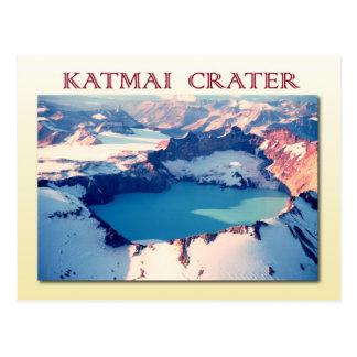 Katmai crater,  Katmai National Park, Alaska Post Card
