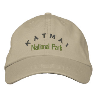 Katmai National Park Embroidered Baseball Caps