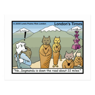 Katmandu & Dogmandu Cartoon Funny Postcards