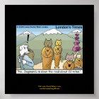 Katmandu & Dogmandu Cartoon Funny Poster