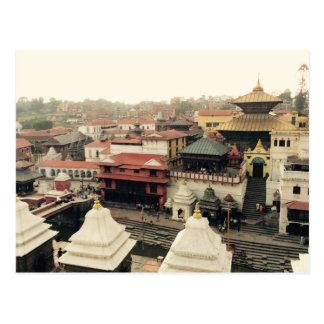 Katmandu, tejados, templo Nepal Postales