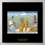 Katmandu y poster divertido del dibujo animado de