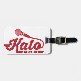 Kato Karaoke Logo Luggage Tag