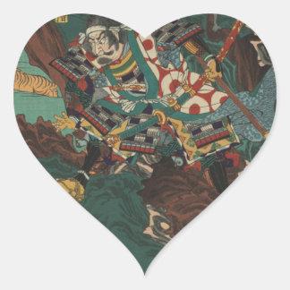 Kato Kiyomasa hunting tigers in Korea during Heart Sticker