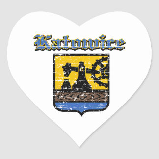 Katowice City Designs Heart Stickers
