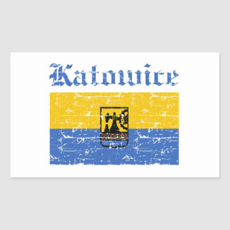 Katowice City designs Rectangular Sticker