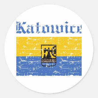Katowice City designs Round Sticker
