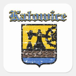 Katowice City Designs Square Sticker