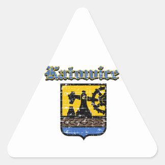 Katowice City Designs Triangle Stickers
