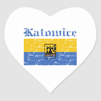 katowice  flag designs heart sticker