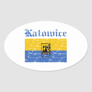 katowice  flag designs oval stickers