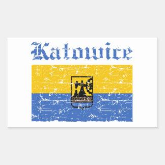 katowice  flag designs rectangle sticker