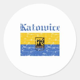 katowice  flag designs round stickers