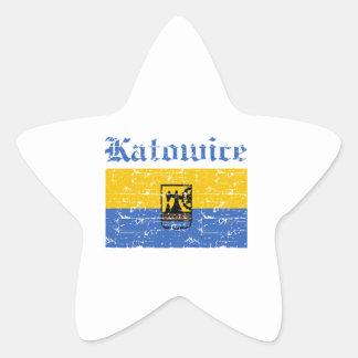 katowice  flag designs star sticker