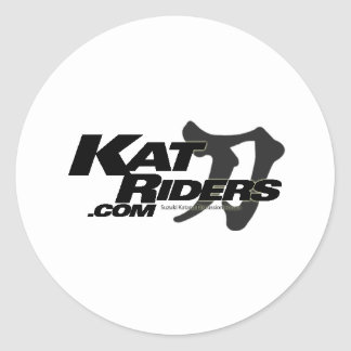 katriders_kanji classic round sticker