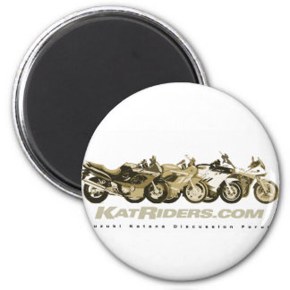 Katriders Sepia Gear 2 Inch Round Magnet