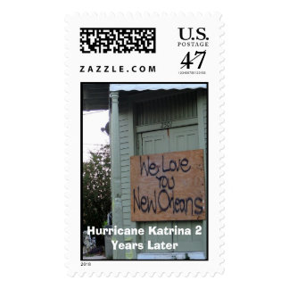 Katrina 2 years later postage