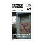 Katrina 2 years later postage stamp